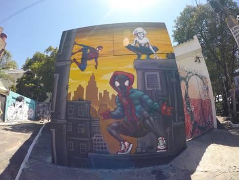 Grafites do Homem Aranha . Foto: Divulgação