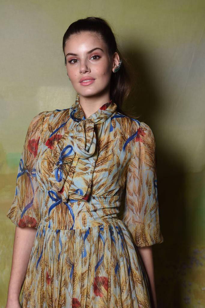 Camila Queiroz no lançamento da Vogue Noiva. Foto: Divulgação
