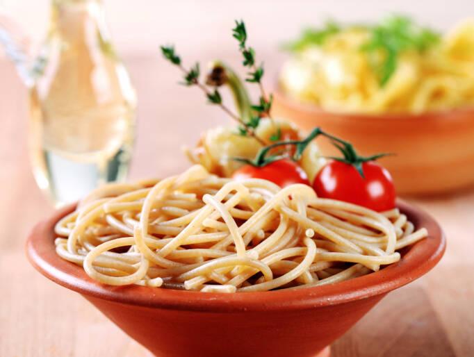 Macarrão: alimento rico em carboidratos que, após ser digerido, se transforma em açúcar para o corpo. Foto: Getty Images
