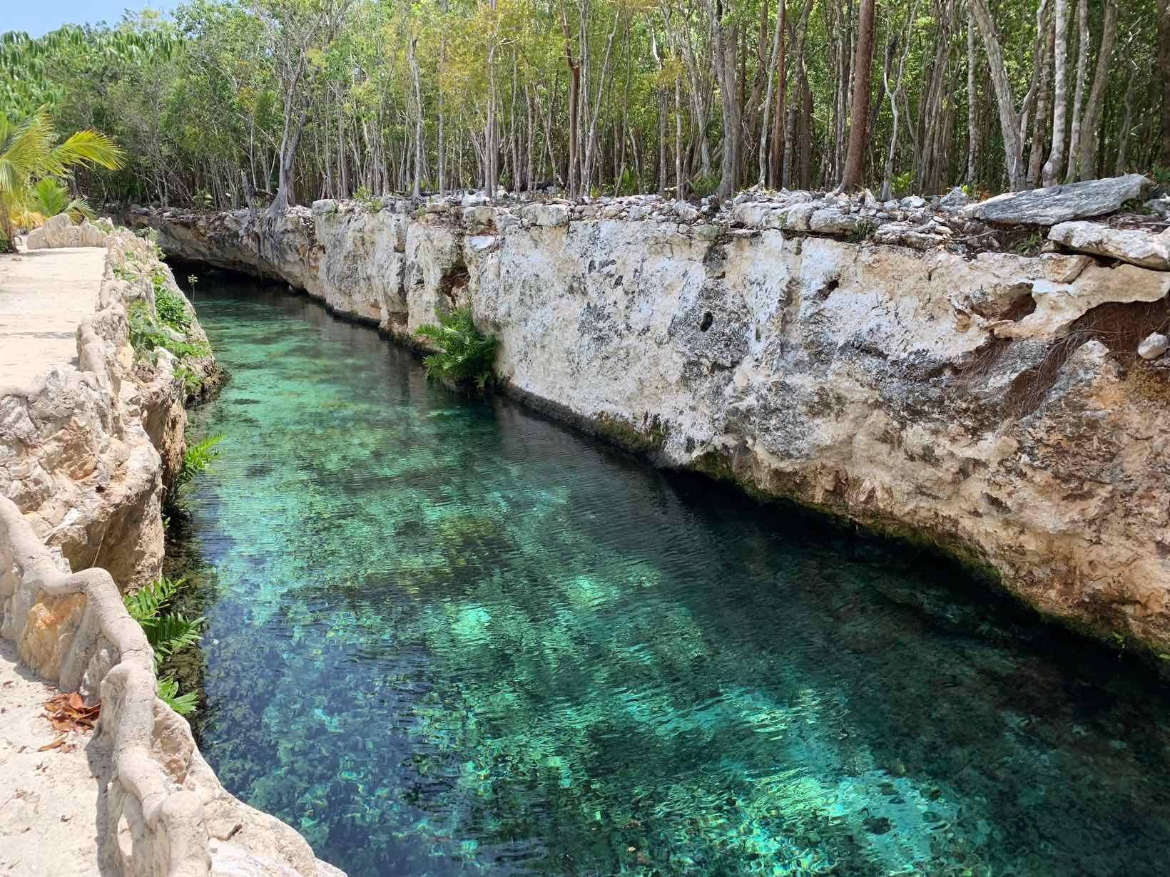 Cenotes Casa Tortuga, nas Ruínas Tulum, no México. Foto: Reprodução