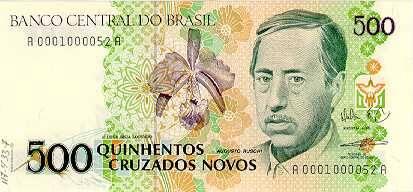 Do cruzeiro ao real: todas as cédulas que já circularam no Brasil desde 1942. Foto: Divulgação/Banco Central do Brasil