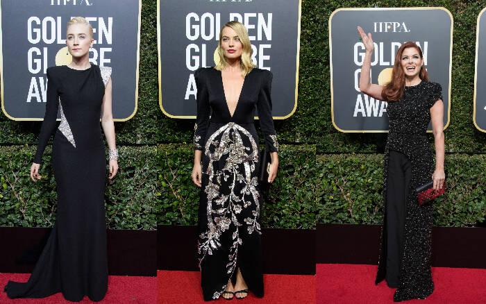 12. Saoirse Ronan (atriz)/ 13. Margot Robbie (atriz)/ 14. Debra Messing (atriz). Foto: HFPA Photographer