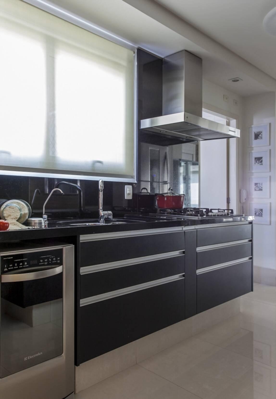 Bancada de cozinha: mais um exemplo para servir de inspiração. Foto: Carlos Piratininga