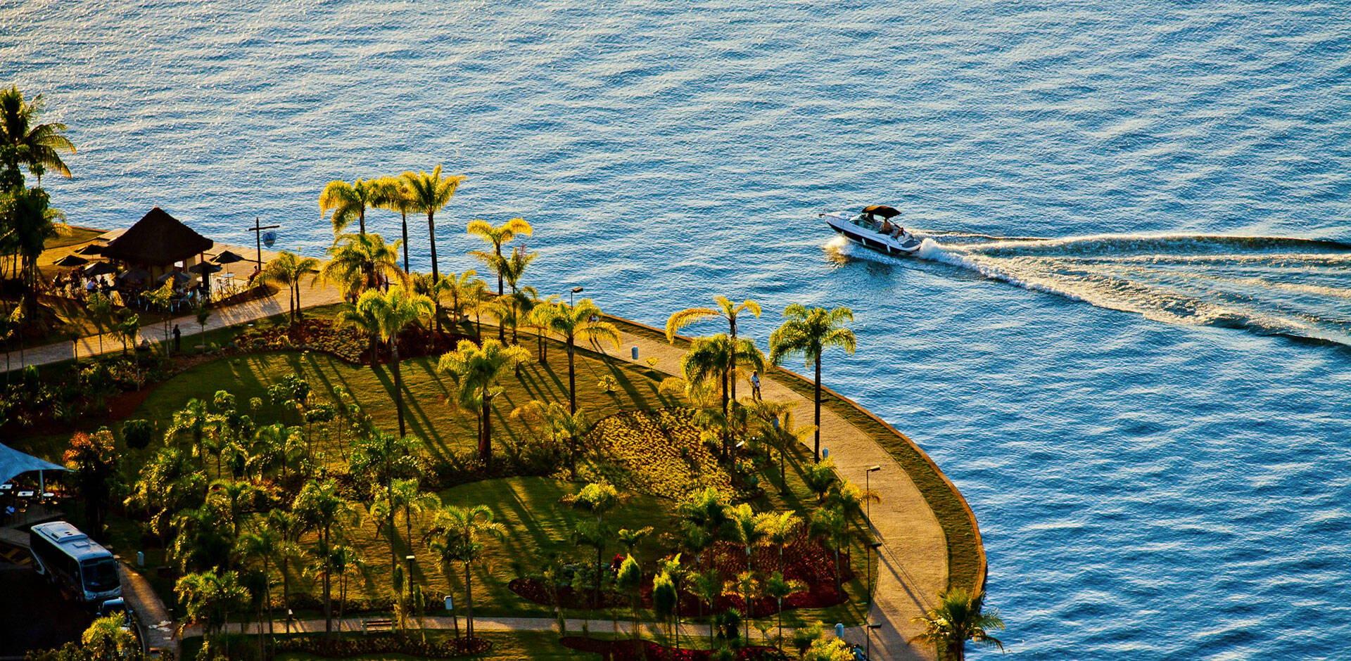 Pontão do Lago Sul fica às margens do Lago Paranoá. Foto: Reprodução/Pontão