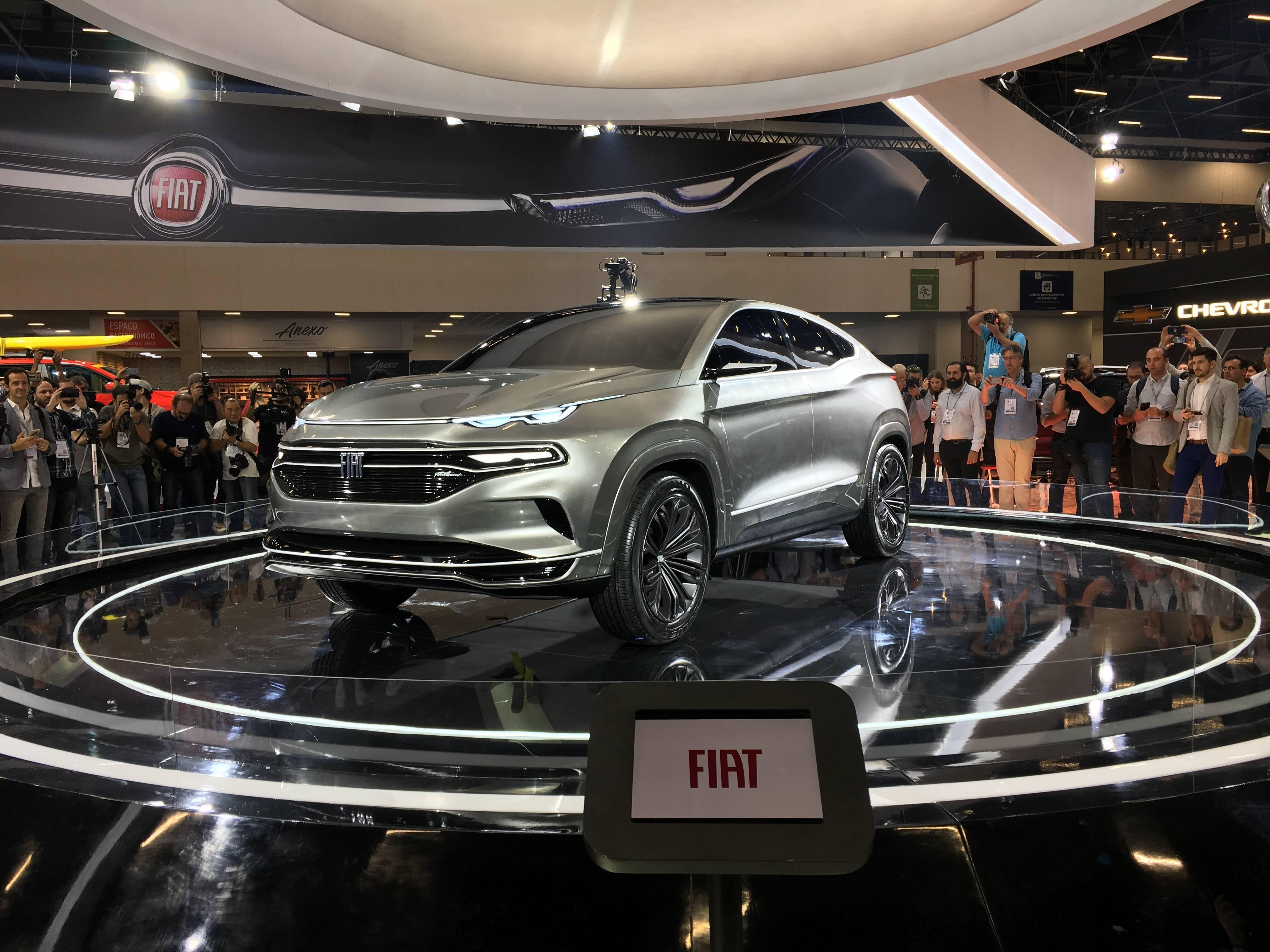 Fiat no Salão do Automóvel 2018. Foto: Guilherme Menezes/iG
