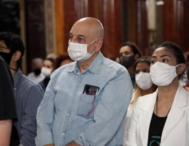 Missa a Sérgio Mamberti: o ator Tadeu di Piero. Foto: Marcos Ribas/Brazil News