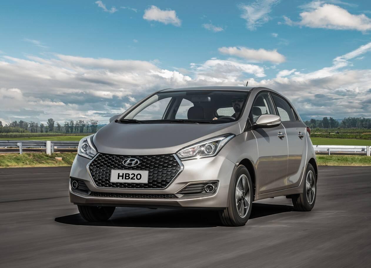 Os 6 anos de mercado do Hyundai HB20 foram de muito sucesso. E as mudanças na linha 2019 vêm para dar um folego a mais. Foto: Divulgação