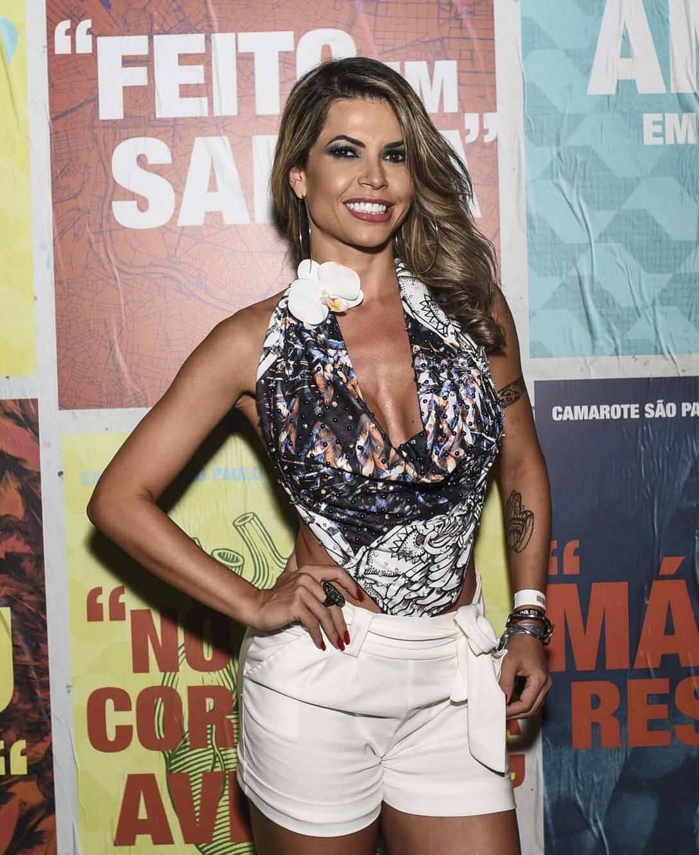 Cacau Ex-BBB no Camarote São Paulo na última sexta (09). Foto: Lu Prezia