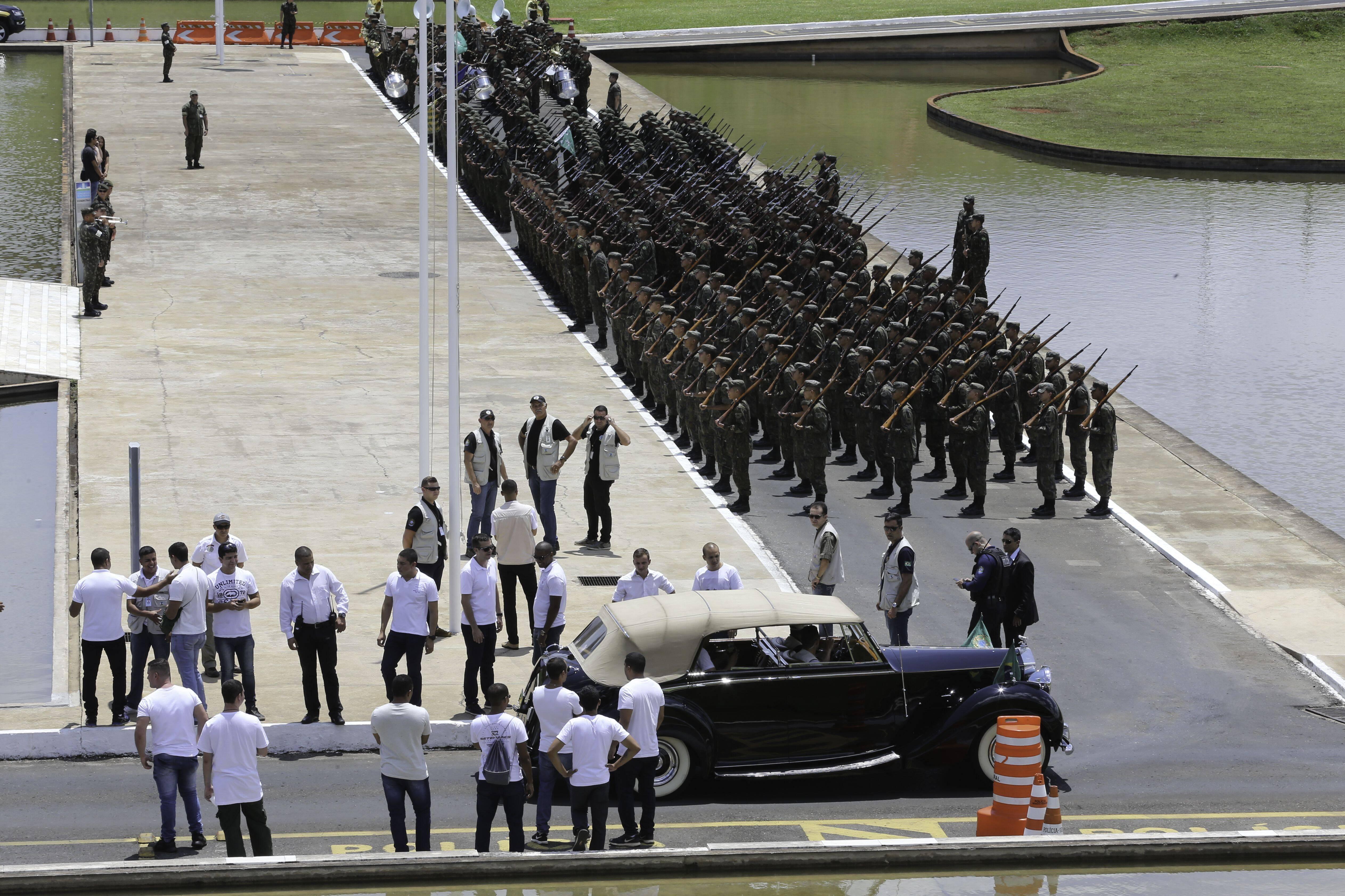Ensaio para posse de Bolsonaro fecha Esplanada dos Ministérios . Foto: Fabio Rodrigues Pozzebom/Agência Brasil - 23.12.18