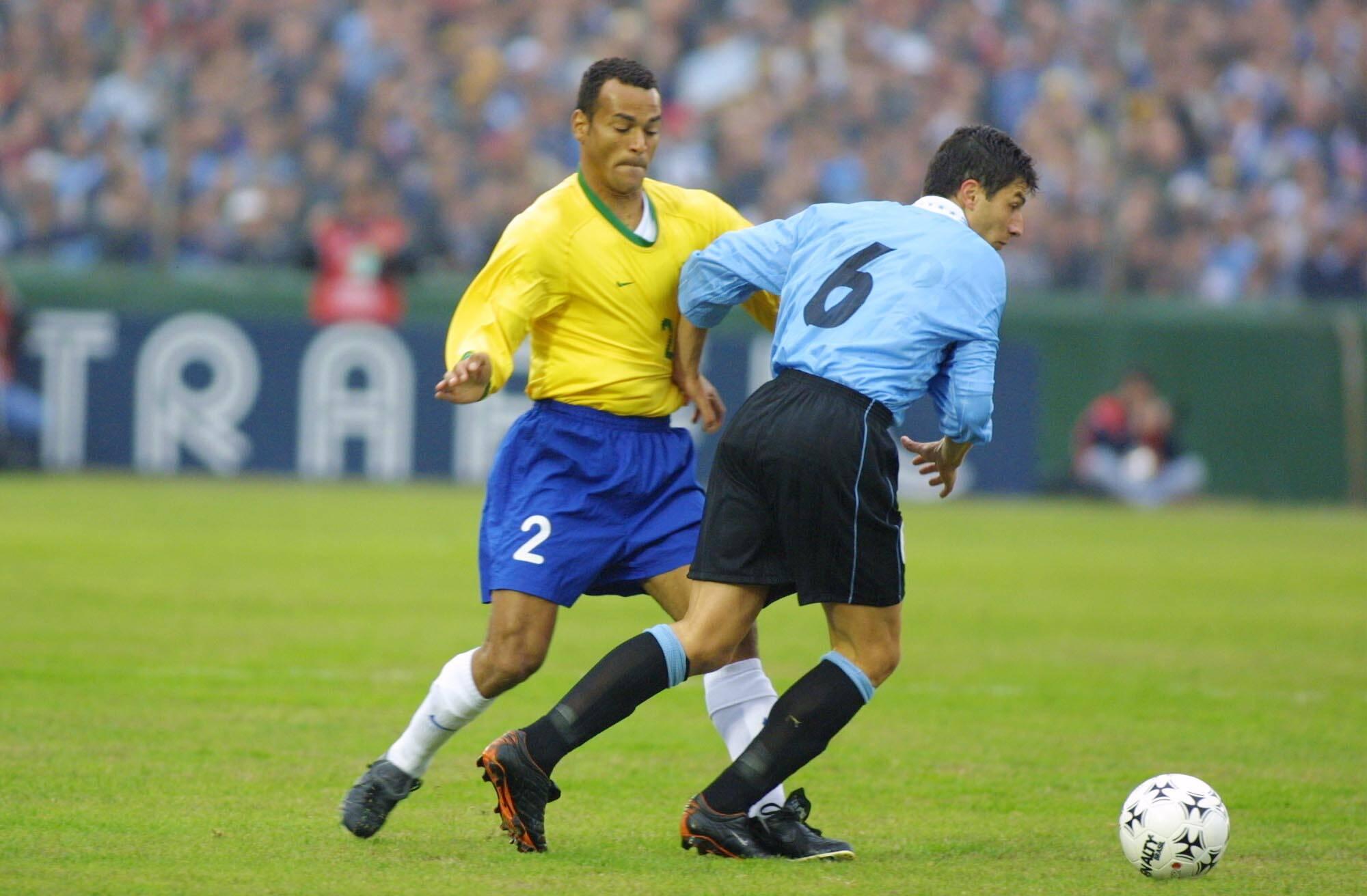 Cafu contra o Uruguai. Foto: Getty Images