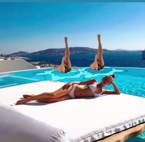 Famosos e anônimos brincam com fotos de Bruna Marquezine e Marina Ruy Barbosa na Grécia. Foto: Reprodução/ Instagram