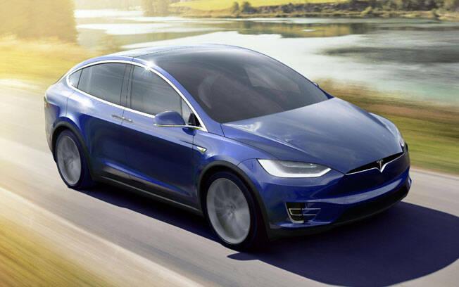 Tesla Model X. Foto: Divulgação