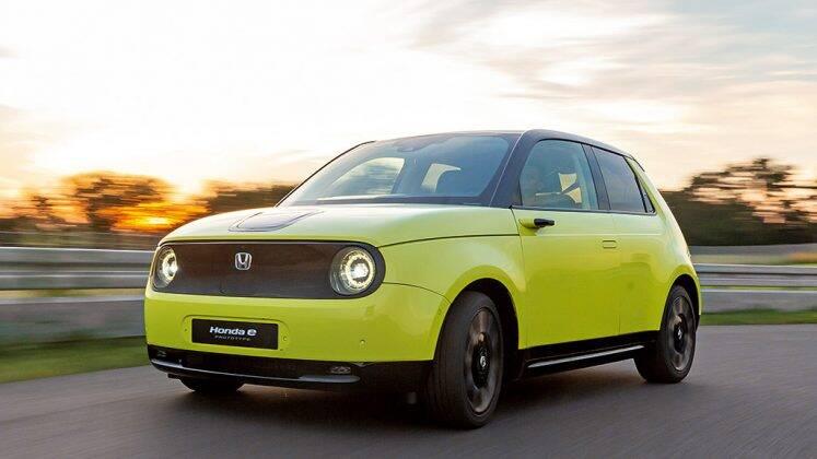 'Honda e' faz referência aos kei cars dos anos 70. Foto: Divulgação