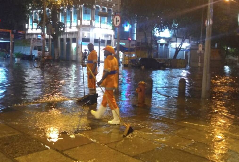 Chuva forte atinge a cidade do Rio de Janeiro e deixa 2 mortos e 1 desaparecido. Foto: Reprodução / @OperacoesRio