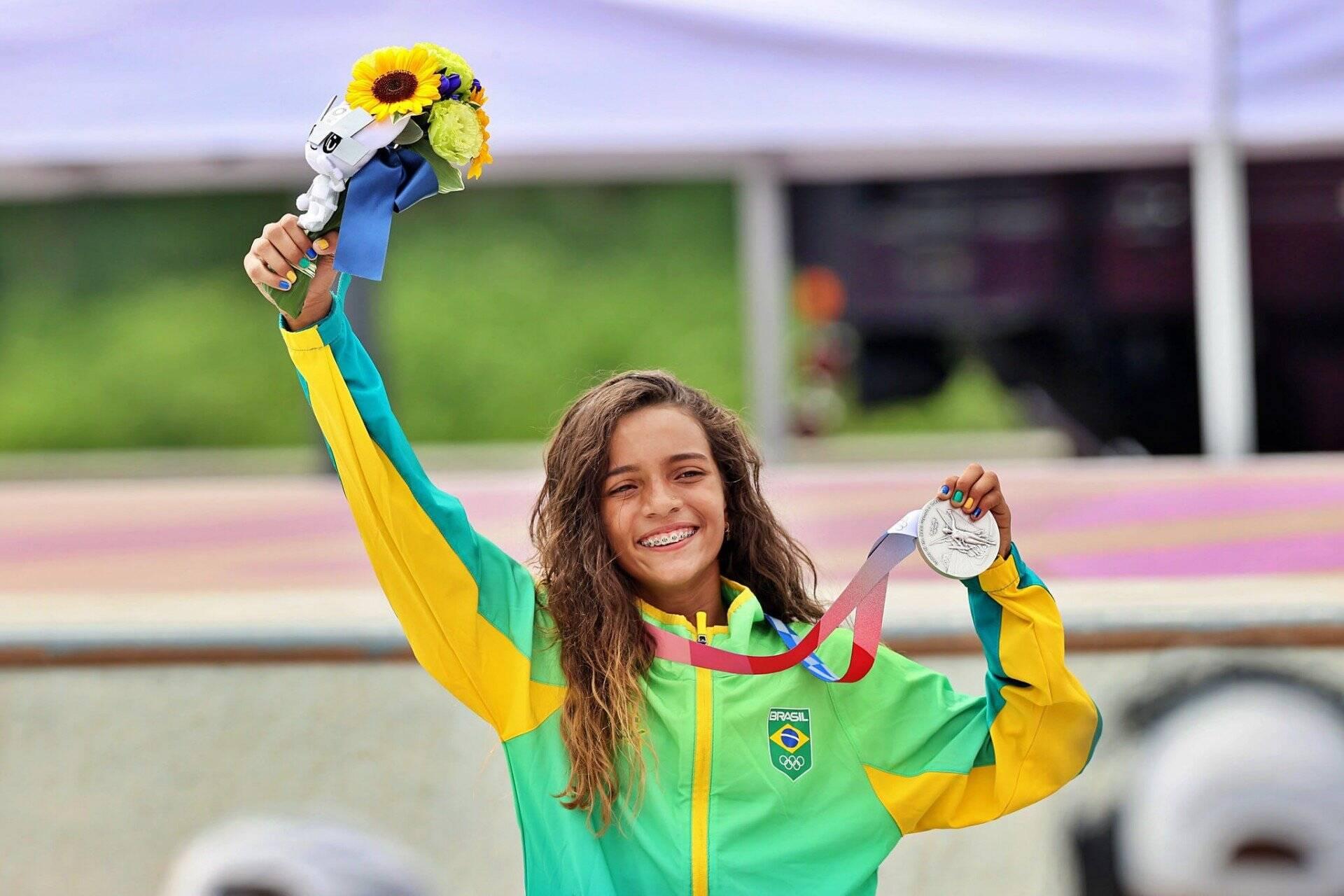 2 - Rayssa Leal (Prata skate) - 823%. Foto: redacao@odia.com.br (LANCE)
