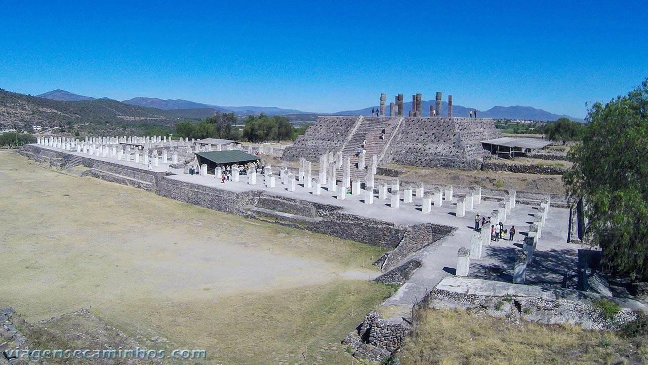 Ruínas Tula, no México. Foto: Viagens e Caminhos