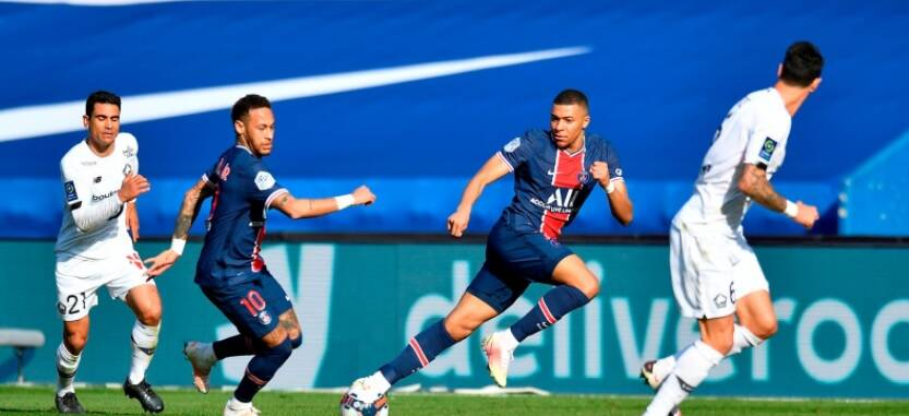 PSG x Lille. Foto: Reprodução / Twitter PSG