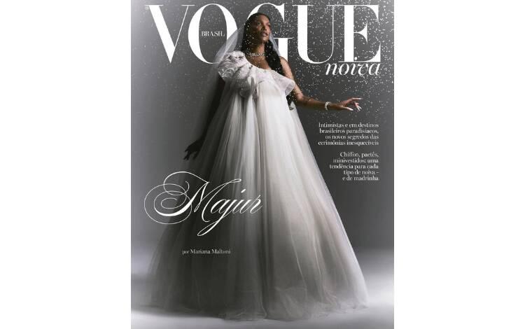 Majur na capa da Vogue Noivas. Foto: Reprodução/Instagram @voguenoivas/Fotos Mariana Maltoni