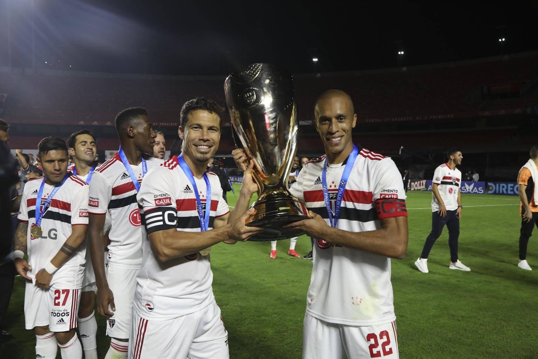 São Paulo campeão paulista - 2021. Foto: Rubens Chiri / São Paulo