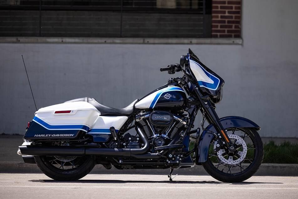 Harley-Davidson Street Glide Special Arctic Blast Limited Edition. Foto: Divulgação