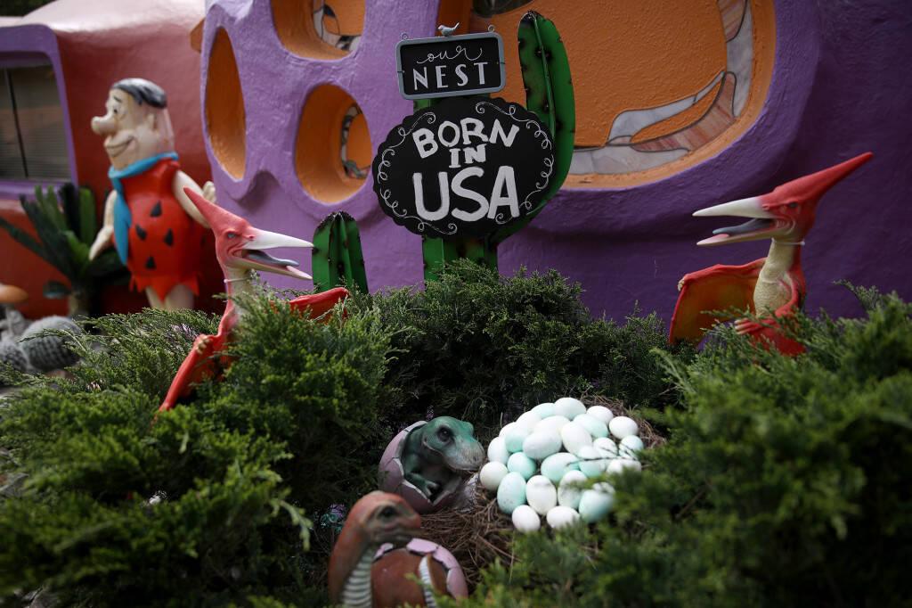 """O lado de fora da """"Casa dos Flinstones"""" chama a atenção. Foto: Getty Image/Realtor.com"""