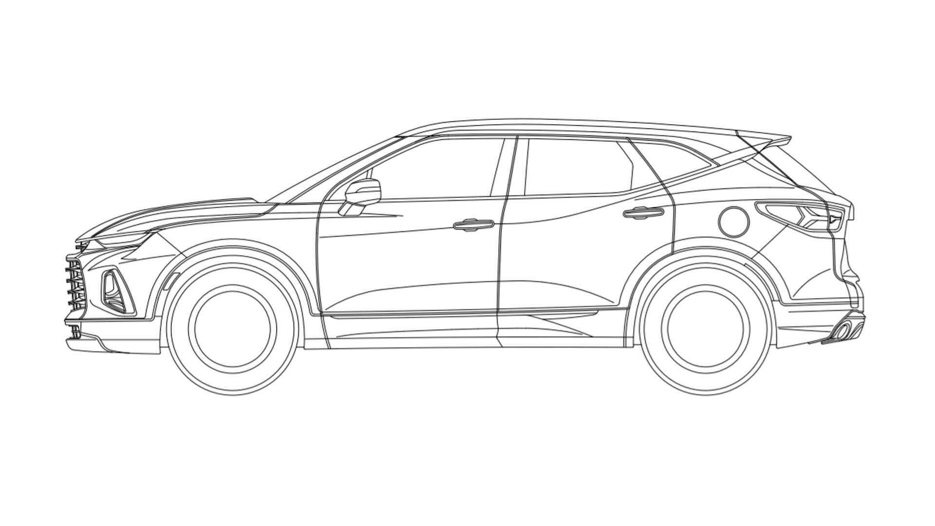 Chevrolet Blazer. Foto: Reprodução/INPI