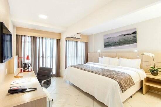 Quarto de hotel do Quality Rio de Janeiro. Foto: Divulgação