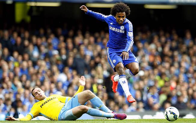 Willian, hoje no Arsenal. Foto: AP Photo/Alastair Grant