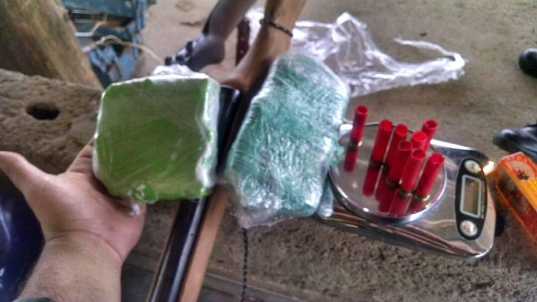 Material apreendido pela PM Ambiental em Mogi das Cruzes. Foto: Divulgação/ PM Ambiental