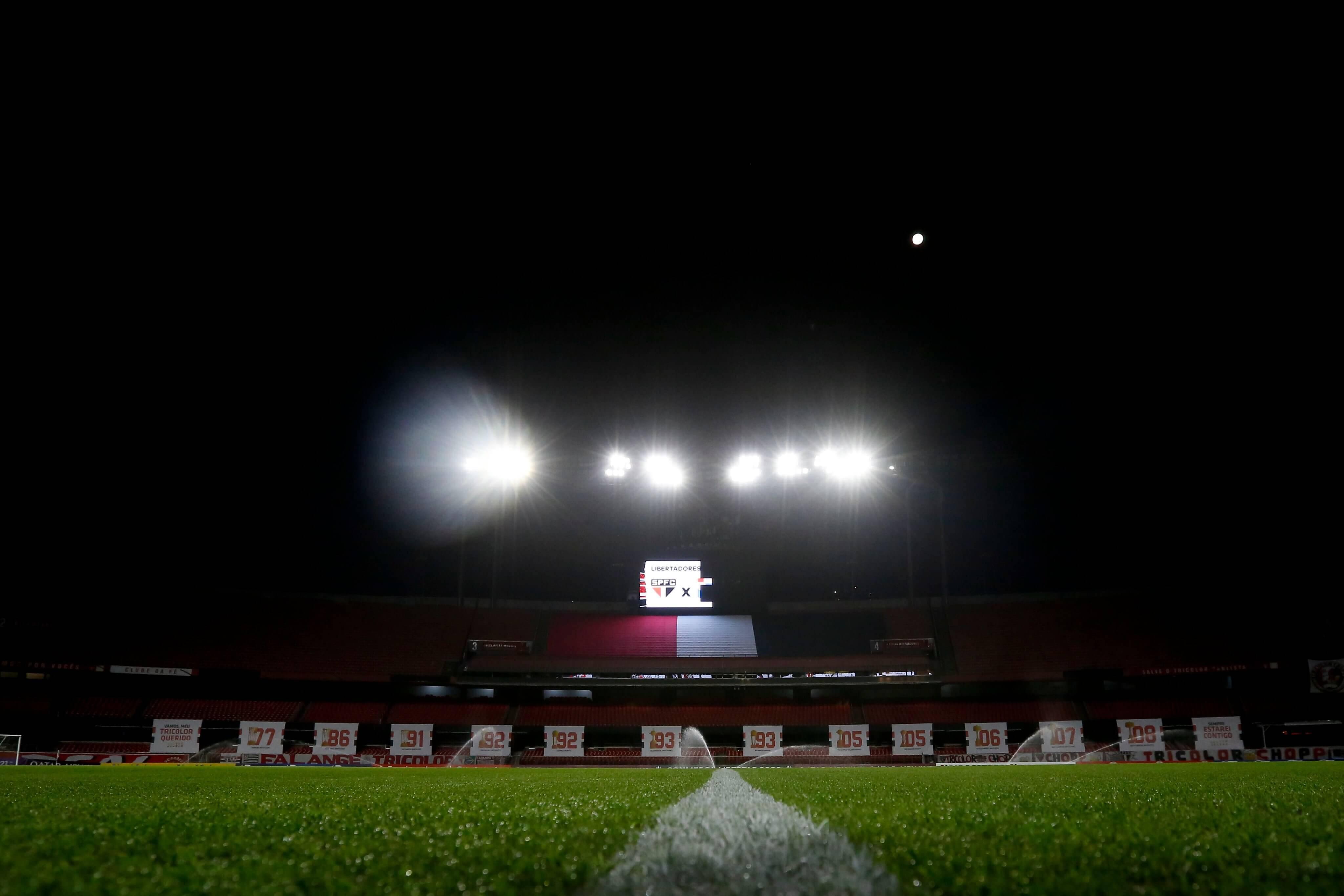 São Paulo x Sporting Cristal. Foto: Reprodução / Twitter Conmebol