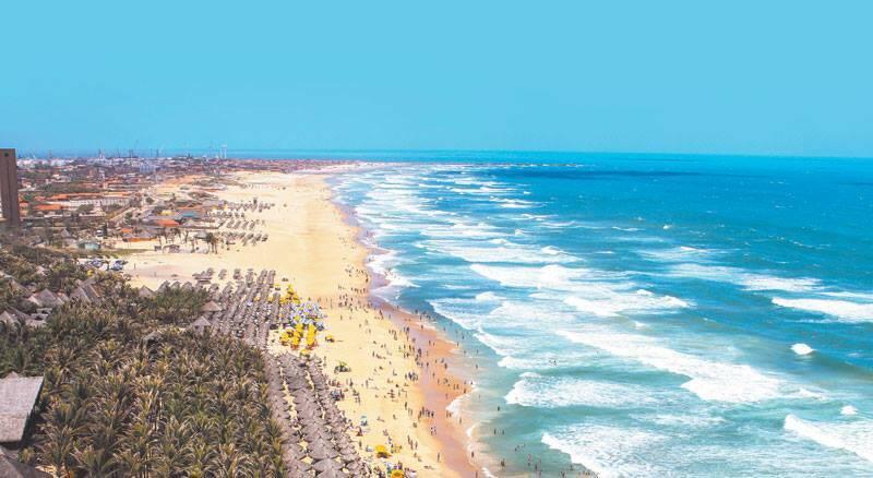LOCAIS PET FRIENDLY EM FORTALEZA: Praia do Futuro possui maioria dos quiosques pet friendly. Foto: Reprodução/Dicas do Nosso Brasil