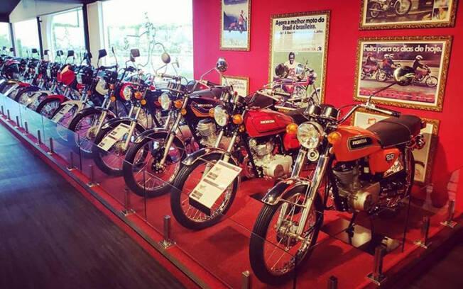 Motocicletas expostas no Honda Fan Club. Foto: Gabriel Marazzi