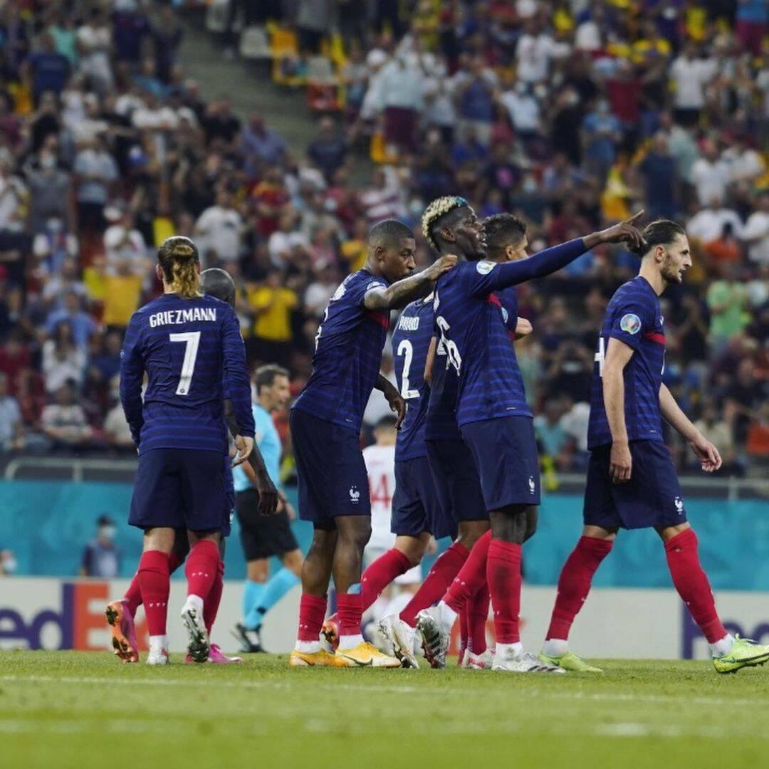 França x Suíça. Foto: Reprodução/Instagram