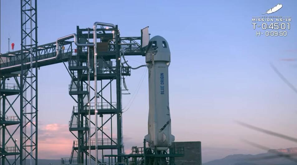 Segundo voo tripulado da Blue Origin. Foto: Reprodução/Youtube
