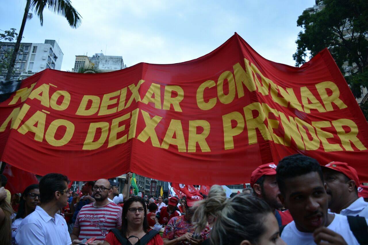 Manifestação contra condenação de Lula. Foto: Larissa Pereira/iG São Paulo