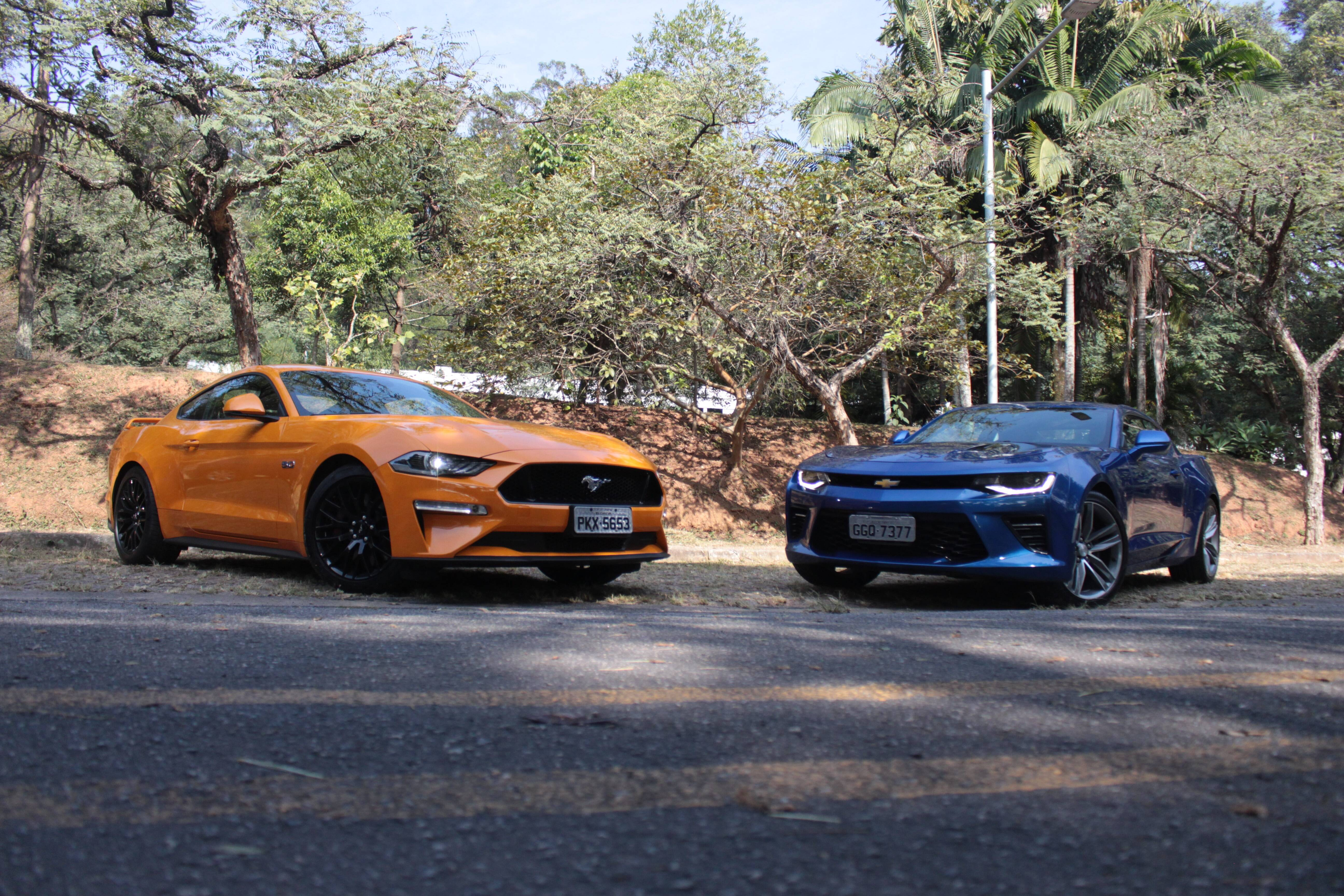 Mustang x Camaro. Foto: Caue Lira/iG