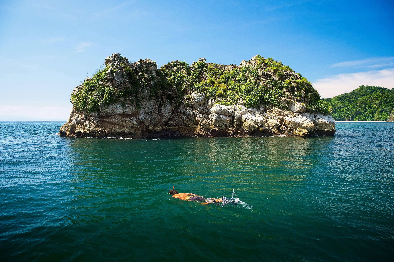 O mergulho com snorkel ou com equipamento completo é uma ótima forma de ver de perto os peixes, corais e moluscos da Costa Rica. Foto: shutterstock