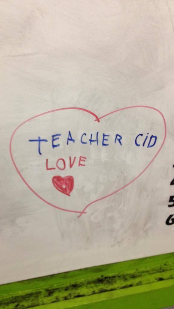 Recados feitos por aluno para o professor Cidney Sousa. Foto: Acervo pessoal