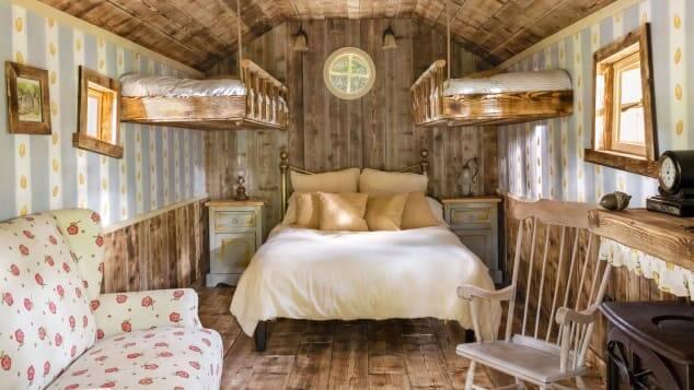 Casa do Ursinho Pooh acomoda quatro pessoas. Foto: Airbnb/Henry Woide