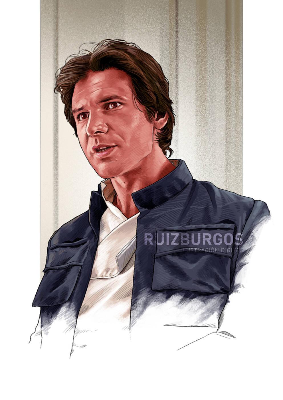 Han Solo (Harrison Ford). Foto: Reprodução/Coolpopsart