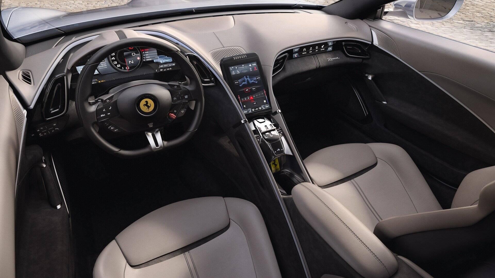 DNA esportivo da Ferrari não deixa de se fazer presente. Cada ocupante tem seu lugar bem definido. Foto: Divulgação