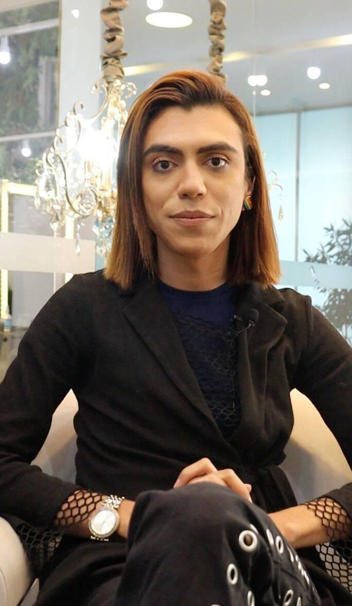 Cliente trans antes do procedimento. Foto: Reprodução