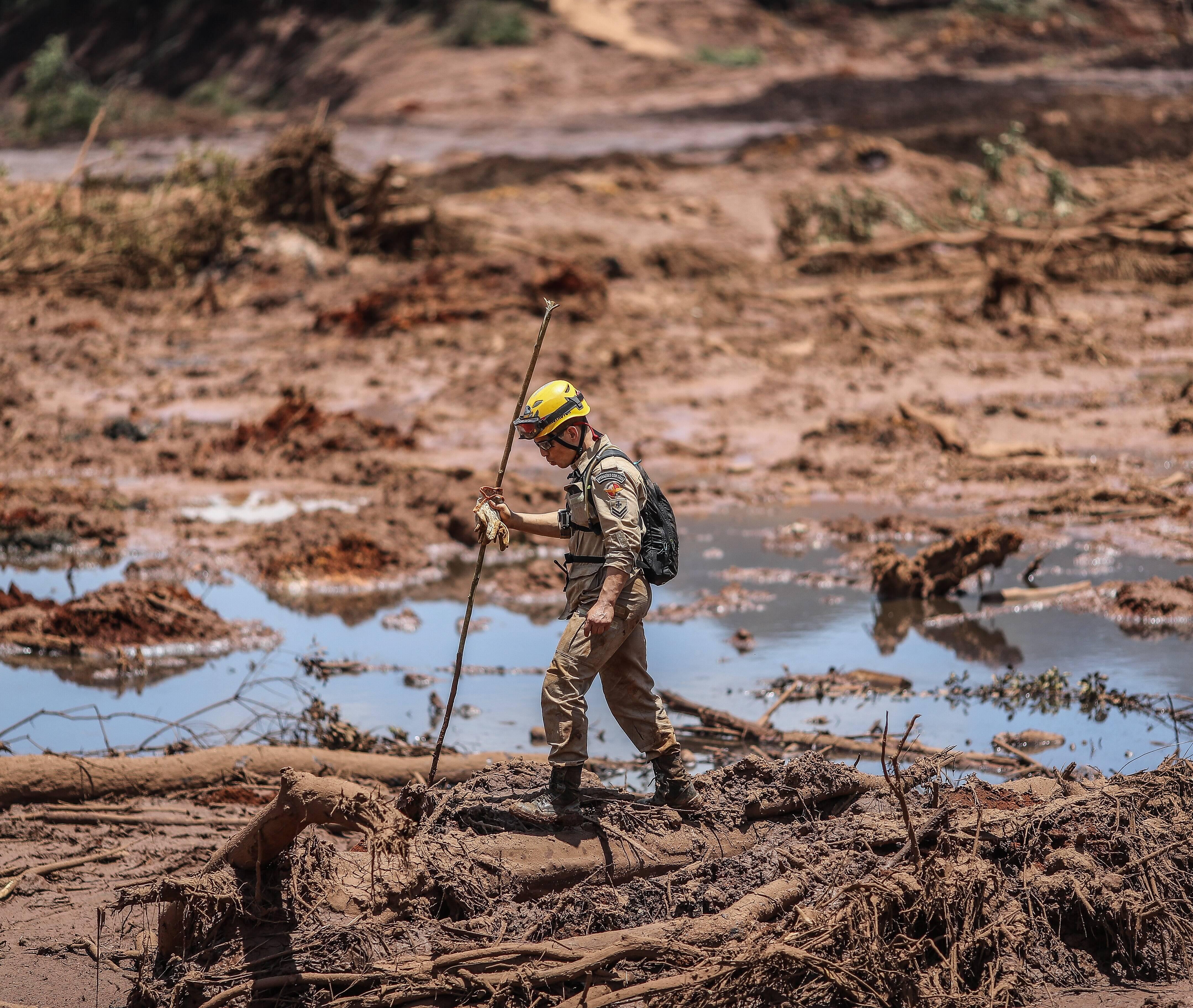 Equipes de resgate em Brumadinho em Minas Gerais. Foto: Ricardo Stuckert / Fotos Públicas