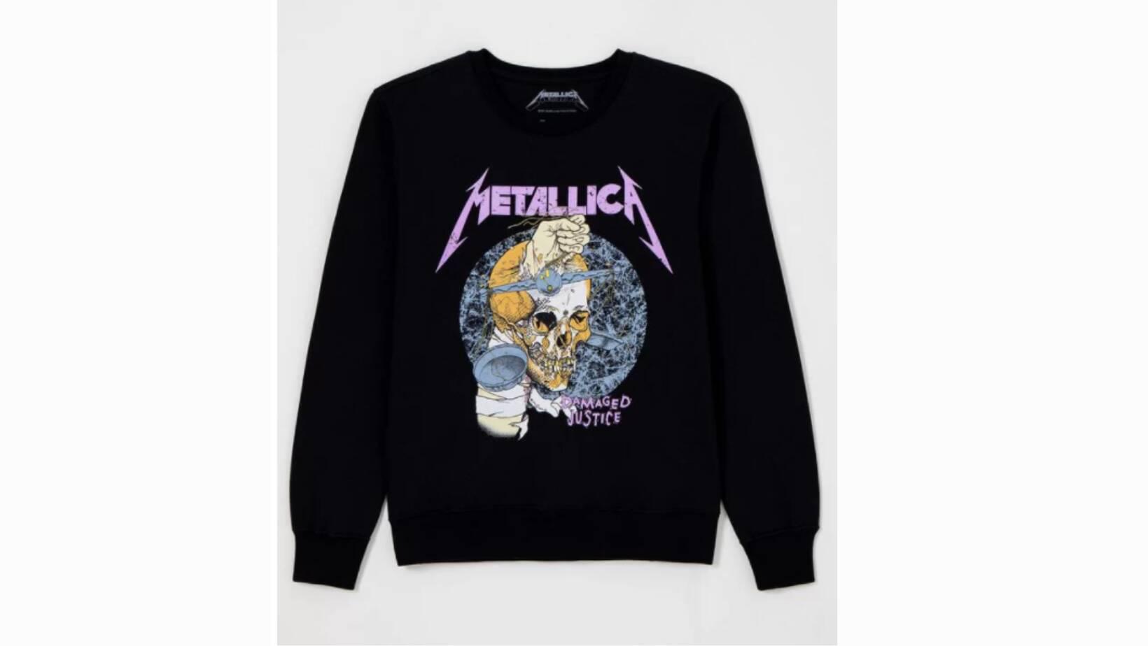 Moletom Metallica, Renner. R$ 99,90.. Foto: Divulgação