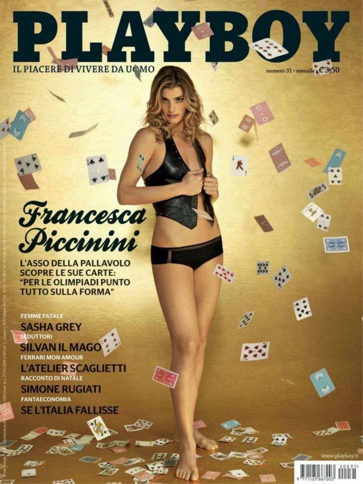 Capa da Playboy - Francesca Piccinini, nadadora italiana. Foto: Divulgação / Revista Playboy