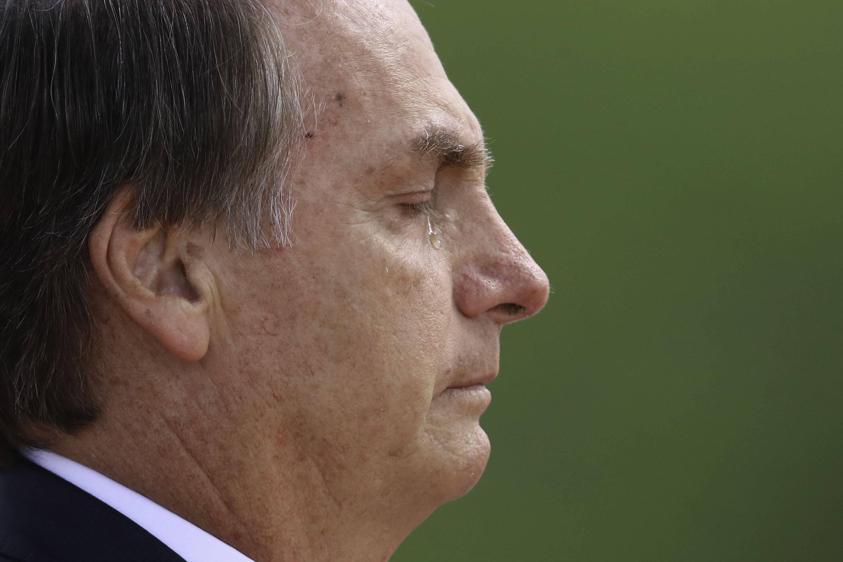 Jair Bolsonaro se emocionou durante cerimônia; posse de Bolsonaro levou três horas. Foto: Fabio Rodrigues Pozzebom/Agência Brasil - 1.1.19