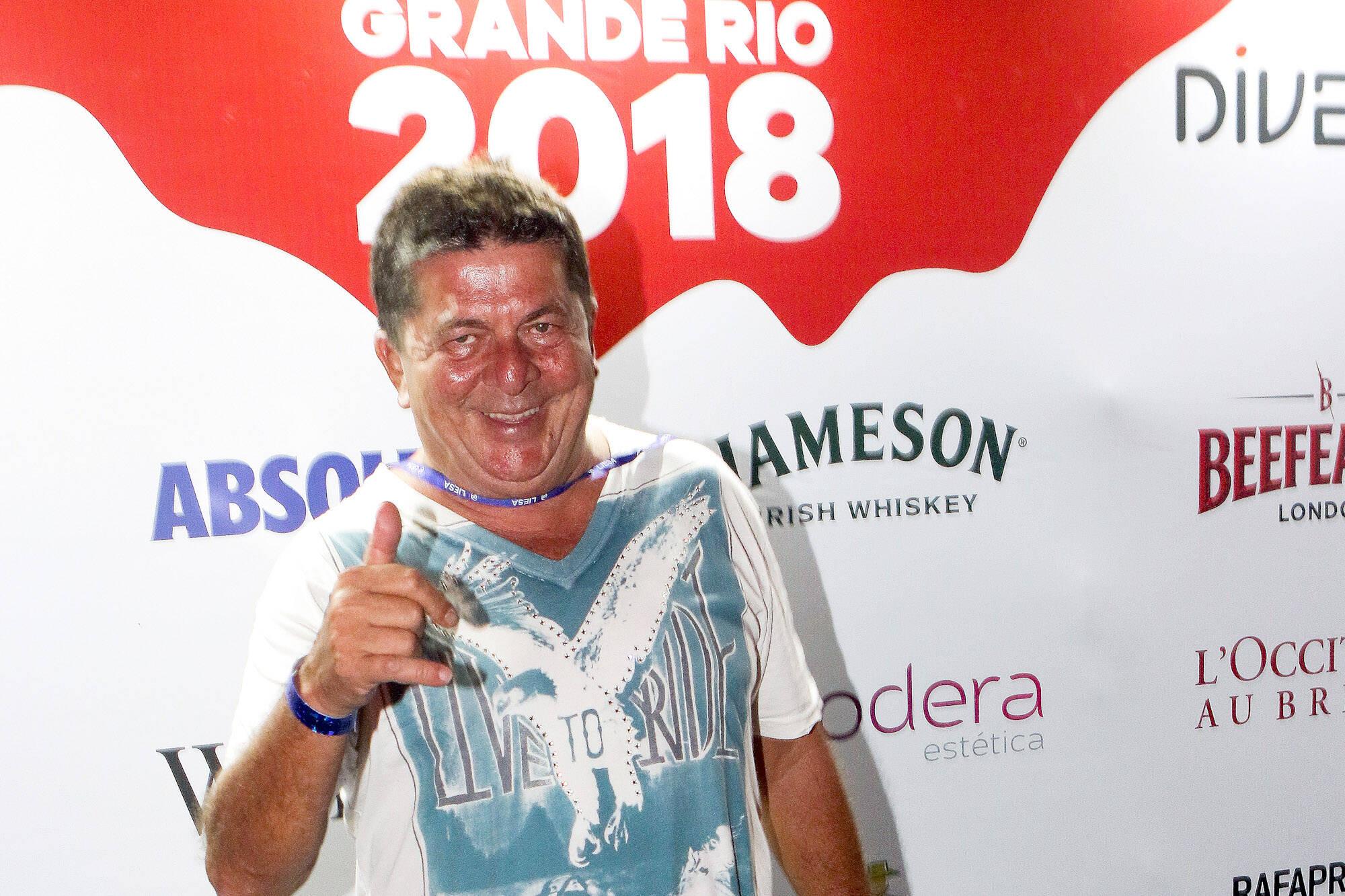 Stepan Nercessian no Camarote Grande Rio que se transformou no Cassino do Chacrinha na noite do último domingo (11). Foto: ENY MIRANDA/DIVULGAÇÃO