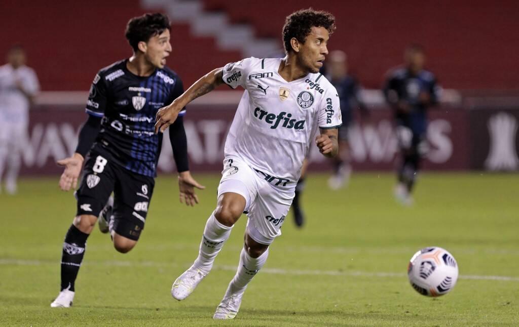 Del Valle x Palmeiras. Foto: Reprodução / Twitter Conmebol