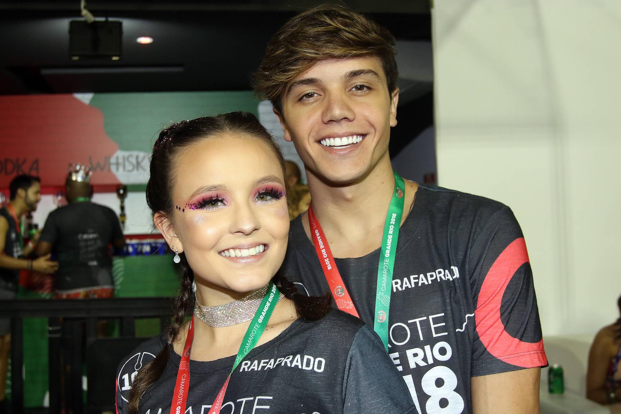 Larissa Manoela e Leo Cidade no Camarote Grande Rio na última segunda-feira (12), no Rio. Foto: eny miranda