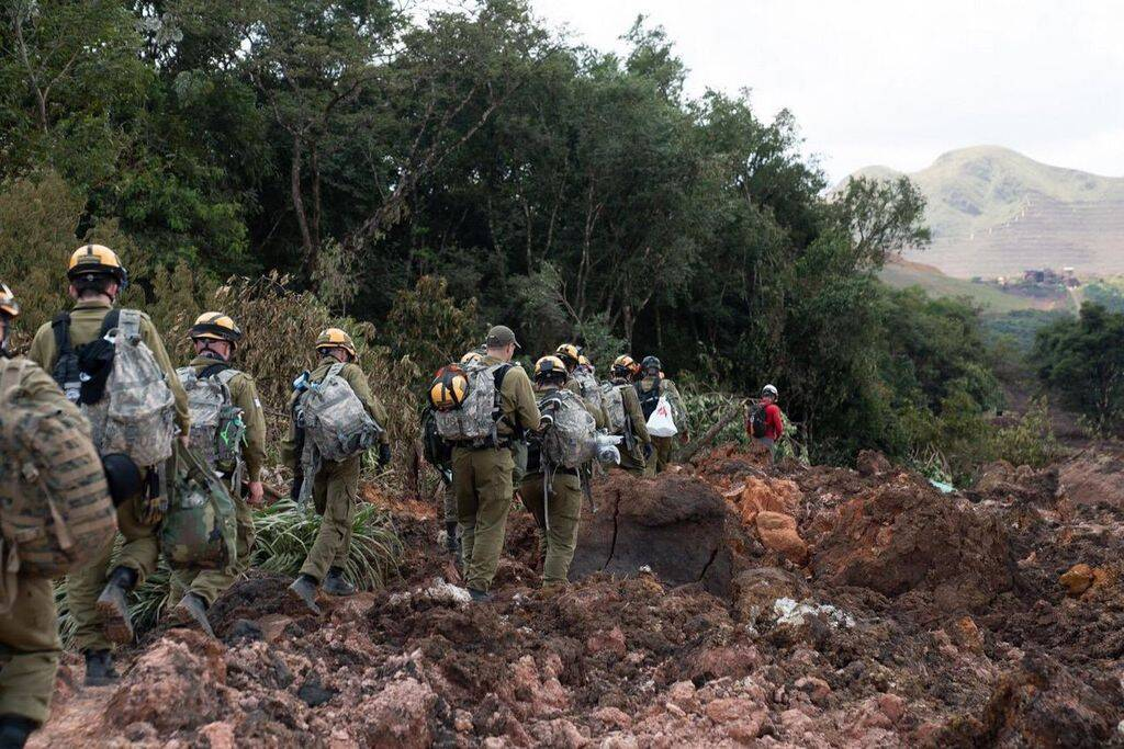Militares israelenses auxiliaram no resgate de vítimas em Brumadinho. Foto: Israel Defense Forces